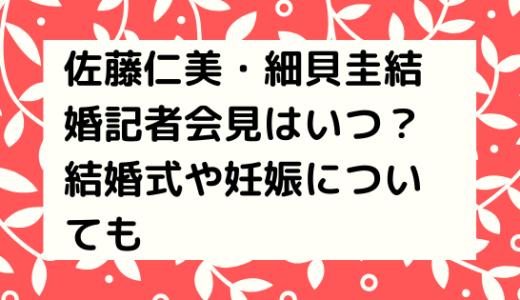 佐藤仁美・細貝圭結婚記者会見はいつ?結婚式や妊娠についても