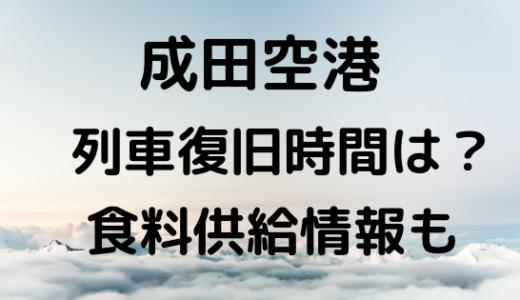 成田空港[陸の孤島]明日の列車復旧時間は?飲食物の供給情報も