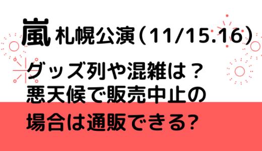 嵐(札幌公演11/14)グッズ列や混雑は?悪天候で販売中止の場合は通販できる?