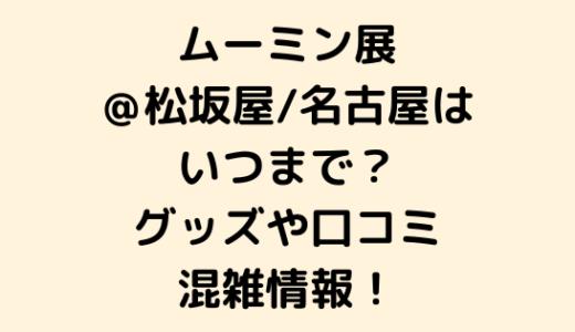 ムーミン展@松坂屋/名古屋はいつまで?グッズや口コミ/混雑情報!