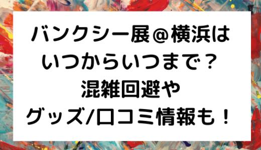 バンクシー展@横浜はいつからいつまで?混雑回避やグッズ/口コミ情報も!