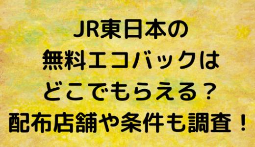 JR東日本の無料エコバックはどこでもらえる?配布店舗や条件も調査!