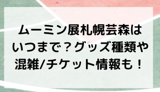 ムーミン展札幌芸森はいつまで?グッズ種類や混雑/チケット情報も!