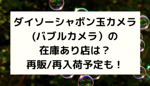 ダイソーシャボン玉カメラ(バブルカメラ)の在庫あり店は?再販/再入荷予定も!
